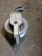 Vintage Sherman And Reilly 3002 Hta Aluminum Pulley Chattanooga Tenn