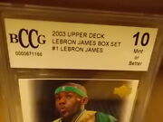 2003-04 Bccg Graded Upper Deck Lebron James Rookie Rc Box Set 1-30 Mint 10and039s