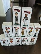 Chicago Bears 100th Anniversary Bobbleheads-complete Set Of All 12