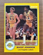 1984 Star Magic Johnson 13 Card Near Nr-mt To Mint Lakers 100 Authentic