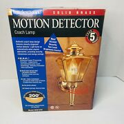 Intelectron Motion Detector Coach Lamp Bc912pb Solid Brass New Old Stock
