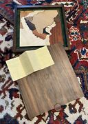 Rare Exotic Wood Puzzle Ralph Selby Commercial Bank Of Kuwait 22kt Gold Map
