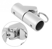 Stainless Steel Folding Swivel Coupling Tube Pipe Connector Boat Hardware 22mm