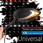 Vawik Mirrors Lucifer 2tone Led + Oi Flasher Rate Control Relay Fits Hyosung