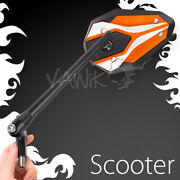 Vawik Rearview Mirror Viperii Orange 8mm 1.25 Pitch Fits Scooter Moped Atv Andtheta