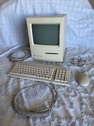 Vintage Apple Macintosh Classic M0420 Computer 1991 With Keyboard And Mouse
