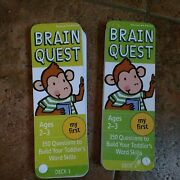 Brain Quest My First Ages 2-3 Toddler's Word Skills Deck 1 And 2