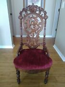 Lafu Western Style Antique Chair From 18th Century Wood With Cushion Seat