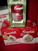 Lot Of 12 Collectible Campbell's Soup Christmas Ornaments 1986 To 2001 In Box