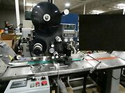 Label-aire Blow-on Labeler With Conveyor