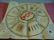 Rummy Royal Game Sheet Mat Large Table Size 30 Inches X 30 Inches