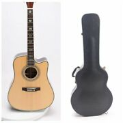 D45 Cutaway Style Acoustic Guitar Real Ablone Inlay Including Hardcase Fast Ship