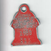 1980 Mercer County Illinois Rabies Vaccination Dog Tag 596