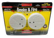 Kidde Smoke And Fire Alarms 2 Unit Value Pack Ideal For Kitchen New Open Box E14