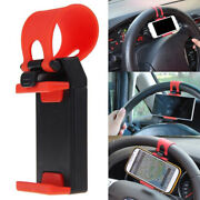 1x Car Suv Interior Gps Phone Holder Mount Stand Steering Wheel Clip Accessories