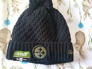 Nwt New Era Pittsburgh Steelers Salute To Service Black Winter Knit Hat Womenand039s