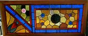 Antique Estlake Stained Glass Window 0 17 X 39