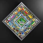 Monopoly World Silver Edition Board Game Charles Fazzino 3d Art Glass Top Silver