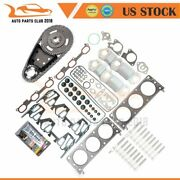 Full Bolts Gasket Set Engine Timing Chain Kit Fits 3.1l 00-05 Rendezvous Impala