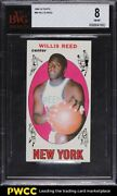 1969 Topps Basketball Willis Reed Rookie Rc 60 Bvg 8 Nm-mt
