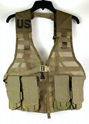 New Usmc Molle Fighting Load Bearing Vest Pouch Coyote W/ 4 Eagle Mag Pouches