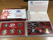 2000-s Us Mint Silver Proof Set With Box/coa-10 Coin-020421-0004