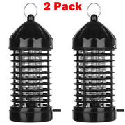 2 Pack Electric Mosquito Killer Lamp Outdoor/indoor Fly Bug Insect Zapper Trap