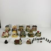 Lot Of 12 Liberty Falls Village Americana Collection Buildings Houses Christmas