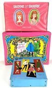 Vtg 1960s The World Of Barbie Double Doll Cases Ponytail Skipper And Skooter Rare