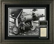 Charles Lindbergh Lucky Lindy Autographed Display