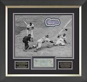 Jackie Robinson Signed Check Framed Display
