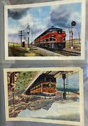 Two Original Vintage Prints Riand039s 160-fa And Great Northern 310-fa By Howard Fogg