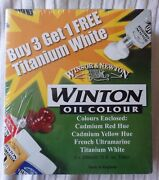 Winsor And Newton Winton Oil Color Paint 200ml Tubes 4 Pack White Red Yellow Ultra