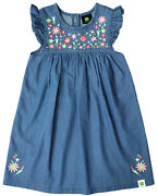 New John Deere Toddler Blue Denim Chambray 2 Pc Dress And Bloomers Size 2t 3t 4t