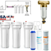 Whole House 10 Water Filter System 3 Stage Filtration + Spin Down Water Filter