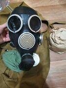 Size 2 Russian Gas Mask Gp7 With Filter And Bag Military Soviet Army Gasmask