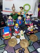 Vintage Disney Lot Mickey Mouse Wind Up Car Truck Tinkerbell Toy Story Peter Pan