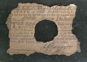 Antique 1780 State Of New Hampshire Colonial Currency, 7 Dollar Spanish Milled