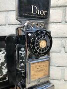 Auth Rare 1960and039s Automatic Electric Chrome Rotary Dial Pay Phone W/ 3 Coin Slot