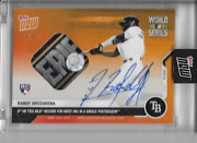 2020 Topps Now Randy Arozarena Auto / World Series Base Relic Rc 460c And039d 4/5