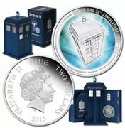 Perth Mint 1oz Dr Who 50th Anniversary Silver Proof Coin Set-tardis Display Case