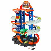 Hot Wheels City Ultimate Garage Track Set With 2 Toy Cars Garage Playset Fea...