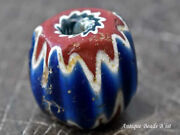 Vintage 16th 18th Centuries Old Venice 7 Layer Chevron Large Beads D2 Glass