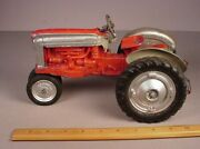 Vintage 1950and039s Hubley Metal Tractor 116 Diecast Farm Toy International Red
