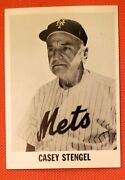 Extremely Rare 1965 Duganand039s Bakery Casey Stengel N Y Mets Retirement Day Card