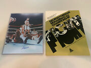 Signed Muhammad Ali Vs George Foreman Photo W/ Vintage 1974 Championship Program