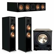 Klipsch 3.1 Piano Black System With 2 Rp-8000f 1 Rp-504c 1 Pl-200ii
