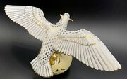 🦋 Mint Herend Limited Ed 41/75 Peace Dove Bird Gold Fishnet Figurine 1950