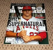 Mike Trout Signed Sports Illustrated Autograph Jsa No Label Si The Supernatural