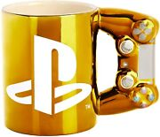 Paladone Playstation Gold Controller Mug Dualshock4 Officially Licensed Sold Out